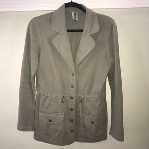 XCVI olive green anorak jacket w adjustable waist